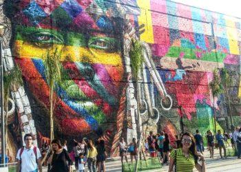 Grafitte de uma indígena
