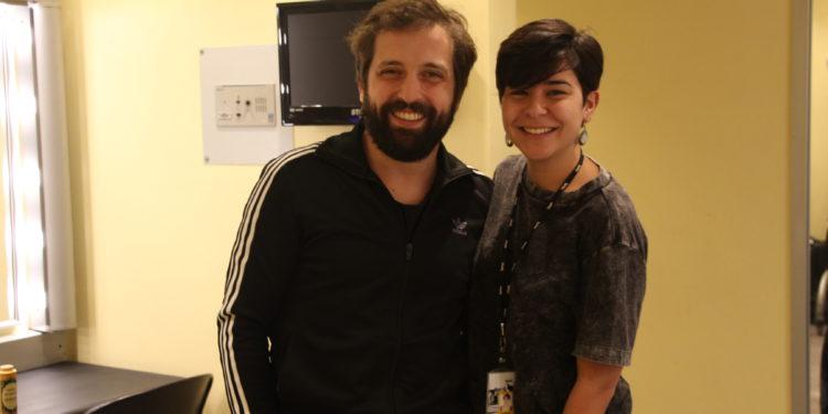 Samirah e Gregório Duvivier no Sesc Santana